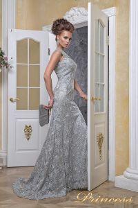 Вечернее платье 12026_silver. Цвет стальной. Вид 4