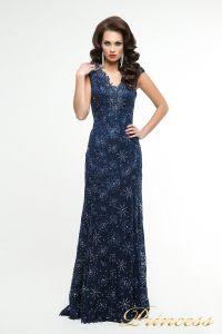 Вечернее платье 12026. Цвет синий. Вид 1