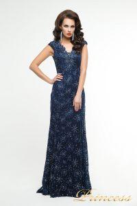 Вечернее платье 12026. Цвет синий. Вид 2