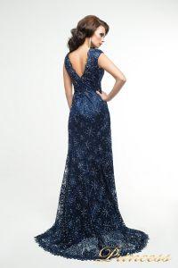 Вечернее платье 12026. Цвет синий. Вид 3