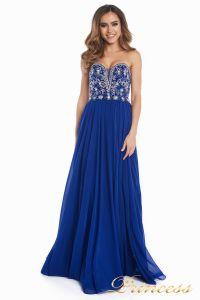 Вечернее платье 12032. Цвет электрик . Вид 2