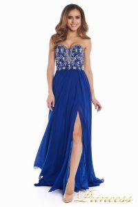 Вечернее платье 12032. Цвет электрик . Вид 1
