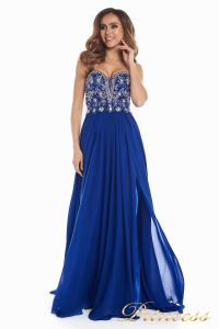Вечернее платье 12032. Цвет электрик . Вид 3