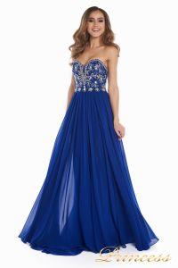 Вечернее платье 12032. Цвет электрик . Вид 4