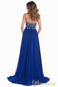 Вечернее платье 12032. Цвет электрик . Вид 5