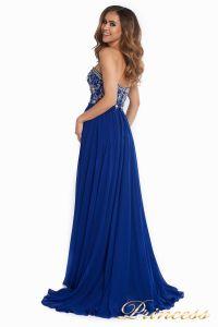 Вечернее платье 12032. Цвет электрик . Вид 6