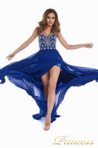 Вечернее платье 12032. Цвет электрик . Вид 7