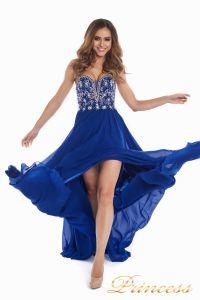 Вечернее платье 12032. Цвет электрик . Вид 8