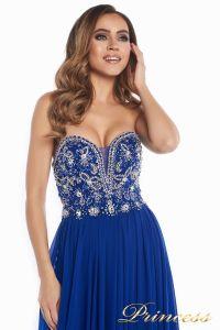 Вечернее платье 12032. Цвет электрик . Вид 9