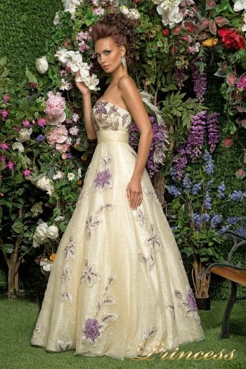 Вечернее платье 12033. Цвет шампань. Вид 3