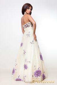 Вечернее платье 12033. Цвет шампань. Вид 4