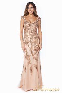 Вечернее платье 12036. Цвет розовый. Вид 3