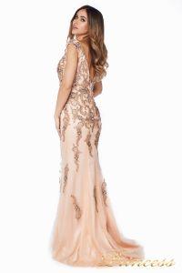 Вечернее платье 12036. Цвет розовый. Вид 5