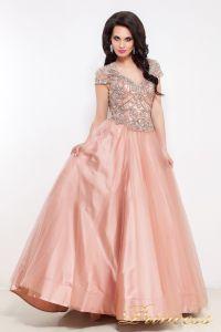 Вечернее платье 12040. Цвет розовый. Вид 2