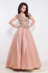 Вечернее платье 12040. Цвет розовый. Вид 1