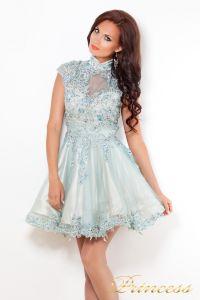 Платье на выпускной 12041. Цвет голубой. Вид 1