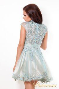 Платье на выпускной 12041. Цвет голубой. Вид 2