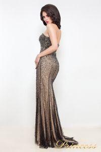 Вечернее платье 12042. Цвет чёрный. Вид 2