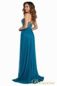 Вечернее платье 12044. Цвет зеленый. Вид 4
