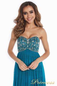 Вечернее платье 12044. Цвет зеленый. Вид 2