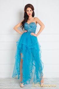 Вечернее платье 12049. Цвет голубой. Вид 1