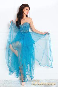 Вечернее платье 12049. Цвет голубой. Вид 2