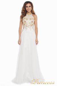 Вечернее платье 12051. Цвет цветочное. Вид 2