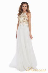 Вечернее платье 12051. Цвет цветочное. Вид 1