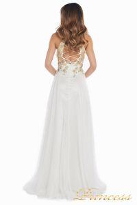 Вечернее платье 12051. Цвет цветочное. Вид 3