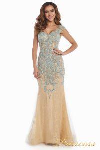Вечернее платье 12053. Цвет золото. Вид 2