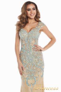 Вечернее платье 12053. Цвет золото. Вид 1