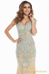 Вечернее платье 12053. Цвет золото. Вид 6