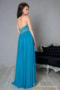Вечернее платье 12055. Цвет бирюзовый. Вид 2