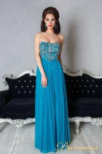 Вечернее платье 12055. Цвет бирюзовый. Вид 1