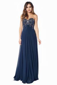 Вечернее платье 12056N. Цвет синий. Вид 2