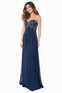 Вечернее платье 12056N. Цвет синий. Вид 3
