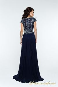 Вечернее платье 12057. Цвет синий. Вид 3