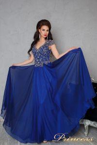 Вечернее платье 12060. Цвет синий. Вид 2