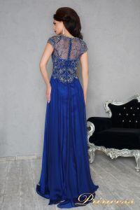 Вечернее платье 12060. Цвет синий. Вид 3