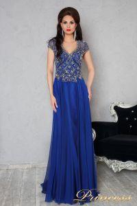 Вечернее платье 12060. Цвет синий. Вид 1