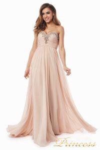 Вечернее платье 12063. Цвет персиковый. Вид 2