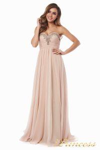 Вечернее платье 12063. Цвет персиковый. Вид 3