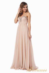 Вечернее платье 12063. Цвет персиковый. Вид 1