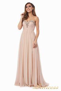 Вечернее платье 12063. Цвет персиковый. Вид 4