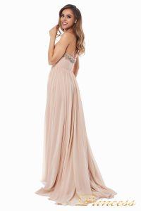 Вечернее платье 12063. Цвет персиковый. Вид 5