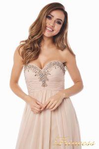 Вечернее платье 12063. Цвет персиковый. Вид 6