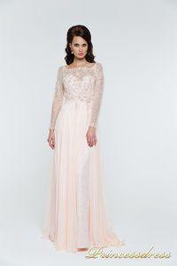 Вечернее платья 12064. Цвет розовый. Вид 3