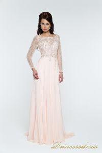 Вечернее платья 12064. Цвет розовый. Вид 2
