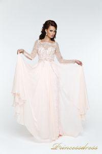 Вечернее платья 12064. Цвет розовый. Вид 1