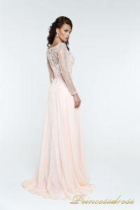 Вечернее платья 12064. Цвет розовый. Вид 4